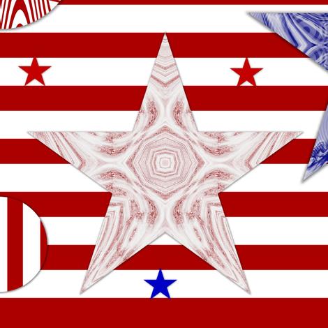 God Bless America fabric by dazzia on Spoonflower - custom fabric