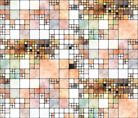 Painted Tiles 1 fabric by animotaxis on Spoonflower - custom fabric