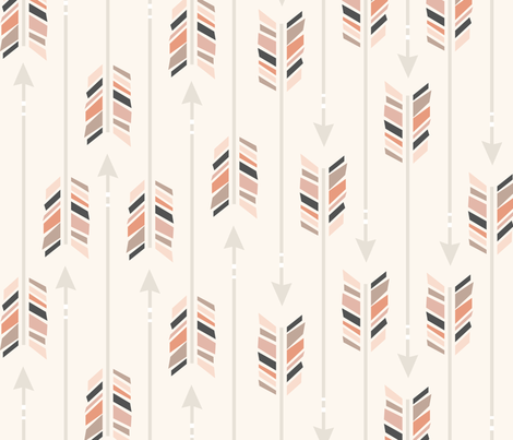 Large Arrows: Painted Desert fabric by nadiahassan on Spoonflower - custom fabric