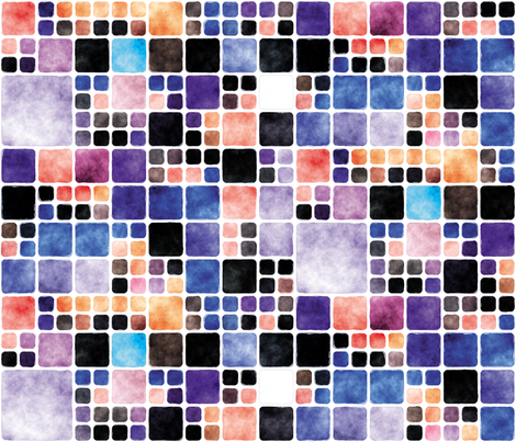Painted Tiles 5 fabric by animotaxis on Spoonflower - custom fabric