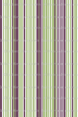 Avocado and Eggplant Vertical Stripes