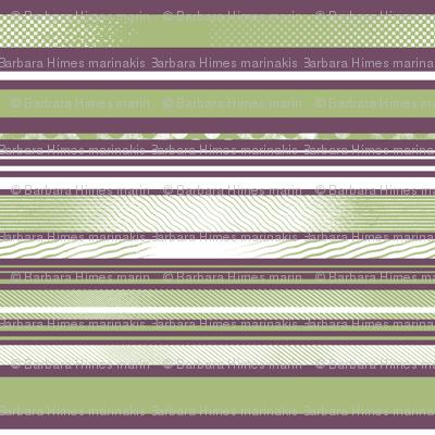 Avocado and Eggplant Horizontal Stripes