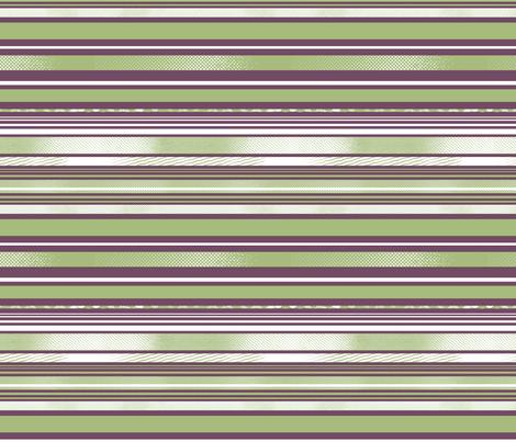 Avocado and Eggplant Horizontal Stripes fabric by tallulahdahling on Spoonflower - custom fabric