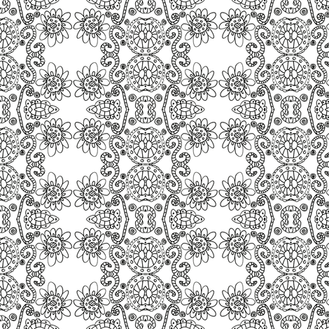 Henrietta Black & White  fabric by captiveinflorida on Spoonflower - custom fabric