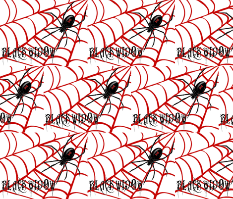 BLACK WIDOWS WEB fabric by bluevelvet on Spoonflower - custom fabric