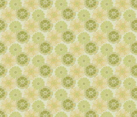 Petite Wonderwall in Ginchy Green fabric by bradbury_&_bradbury on Spoonflower - custom fabric