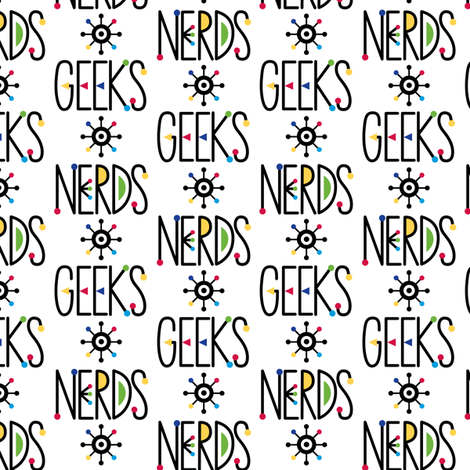 Geeks and Nerds fabric by andibird on Spoonflower - custom fabric
