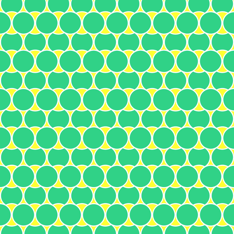 Bright Mint Circles fabric by pearl&phire on Spoonflower - custom fabric