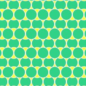 Bright Mint Circles