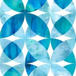 Blue Watercolor Geo - Pool