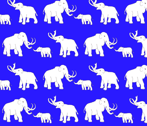mammoths_blue fabric by celebrindal on Spoonflower - custom fabric