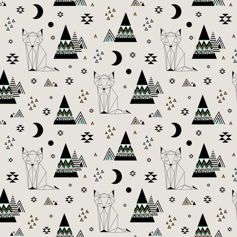 Distant Planet Mint (Small) fabric by kimsa on Spoonflower - custom fabric