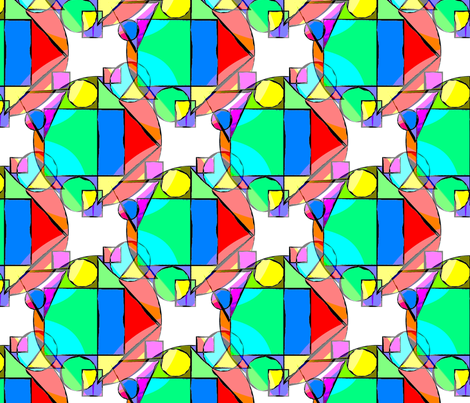 pop_art_geometric_shapes_and_bright_colors fabric by vinkeli on Spoonflower - custom fabric