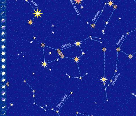 """For Lyra and Cassie - Constellation map (42"""") fabric by coggon_(roz_robinson) on Spoonflower - custom fabric"""