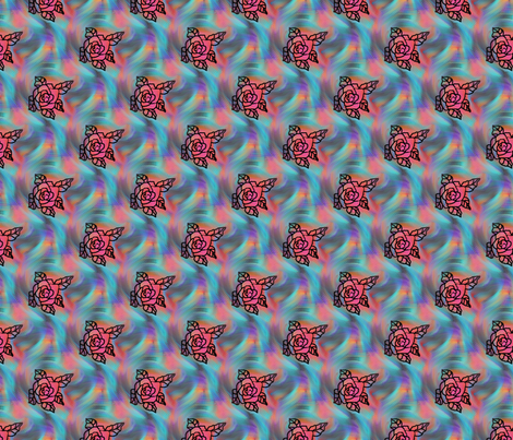 roses_on_windy_colorful_surface fabric by vinkeli on Spoonflower - custom fabric