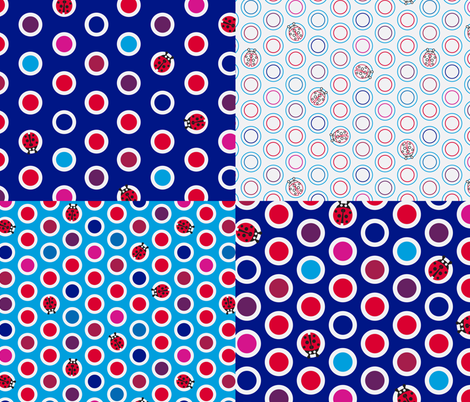 ladybird spot selection fabric by coggon_(roz_robinson) on Spoonflower - custom fabric