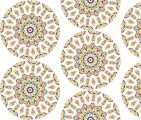 mosaic_roundel fabric by lfntextiles on Spoonflower - custom fabric