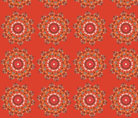 mosaics on tangerine fabric by lfntextiles on Spoonflower - custom fabric