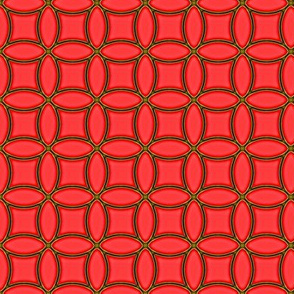Golden Rings   -intense coral