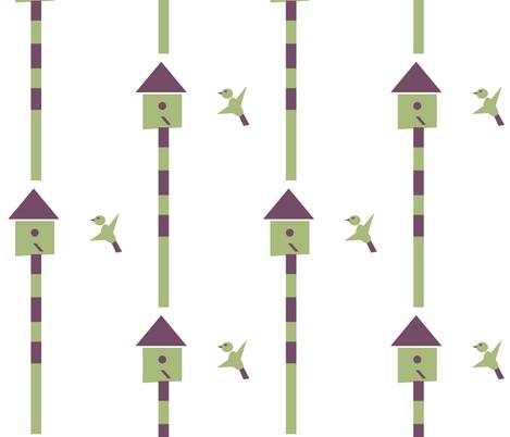 Geo Bird fabric by heartfullofbirds on Spoonflower - custom fabric