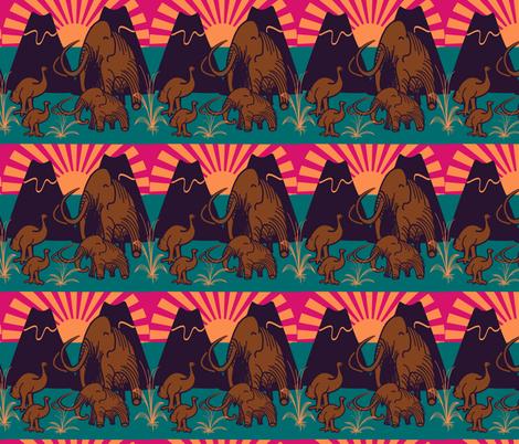 marzlene_Extinct animals fabric by marzlene'z_eye_candy on Spoonflower - custom fabric