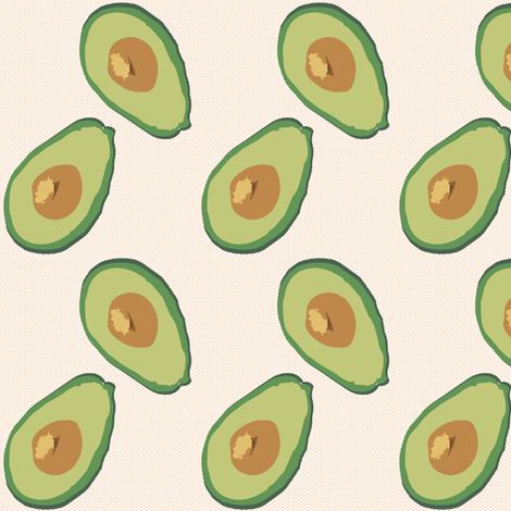 You say avocado, I say avocado. fabric by alysnpunderland on Spoonflower - custom fabric
