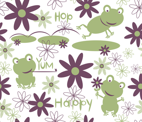 The Elliptical Frog fabric by bzbdesigner on Spoonflower - custom fabric
