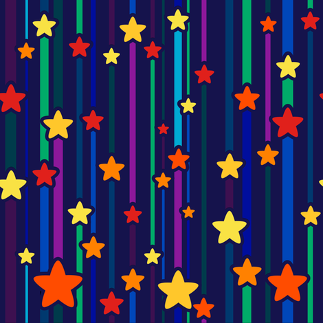Star Curtain 1976 fabric by shala on Spoonflower - custom fabric
