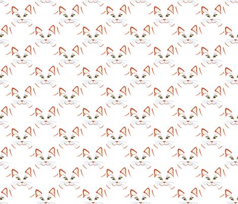 Cat_s_head fabric by alfabesi on Spoonflower - custom fabric