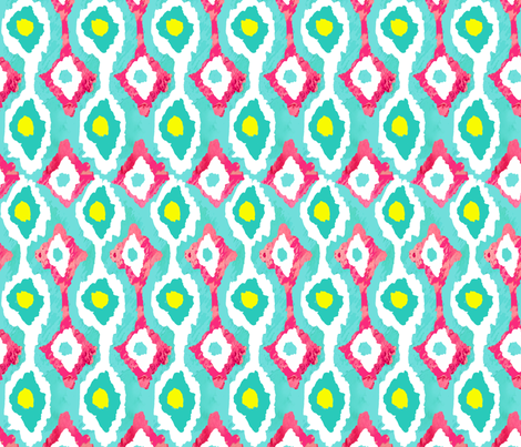 Pink Lemonade Ikat fabric by sara_berrenson on Spoonflower - custom fabric