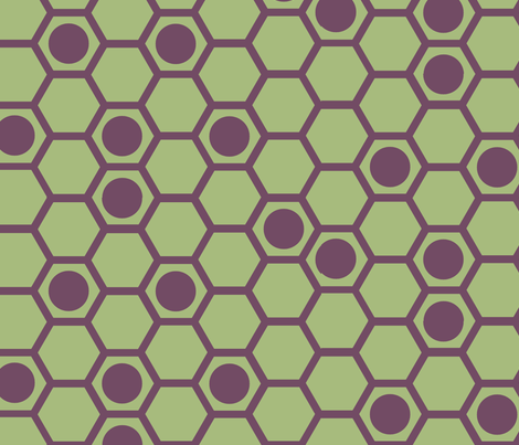 hexagons fabric by celebrindal on Spoonflower - custom fabric