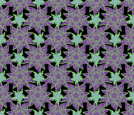Lavender Super Stars fabric by periwinklepaisley on Spoonflower - custom fabric