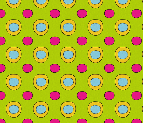 whimsical circles fabric by tumbling_turtle on Spoonflower - custom fabric