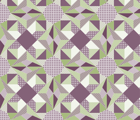 Amethyst Lamplight - Quilt fabric by rhondadesigns on Spoonflower - custom fabric