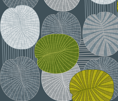 Dickinsonia Lime  fabric by spellstone on Spoonflower - custom fabric