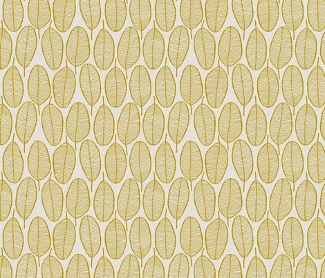 JANI_MUSTARD fabric by glorydaze on Spoonflower - custom fabric