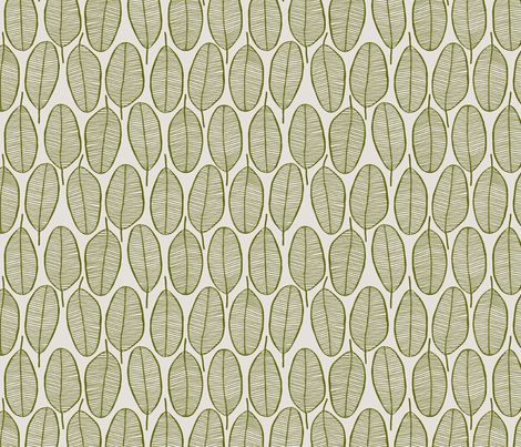 JANI_OLIVE fabric by glorydaze on Spoonflower - custom fabric