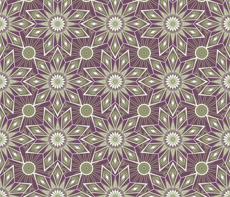 Geometric Starburst fabric by kezia on Spoonflower - custom fabric