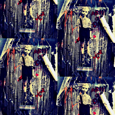 Diane Arbus Graffiti Boy fabric by luckygirl_eleven on Spoonflower - custom fabric