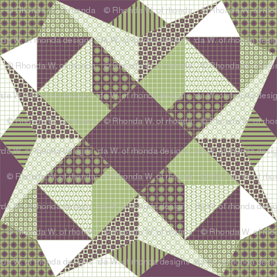 A Shaded Lamp - Quilt