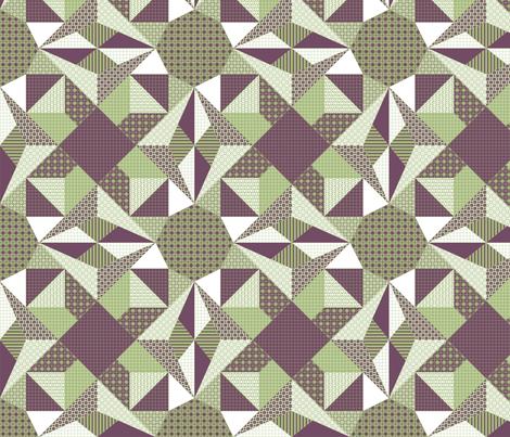 A Shaded Lamp - Quilt fabric by rhondadesigns on Spoonflower - custom fabric