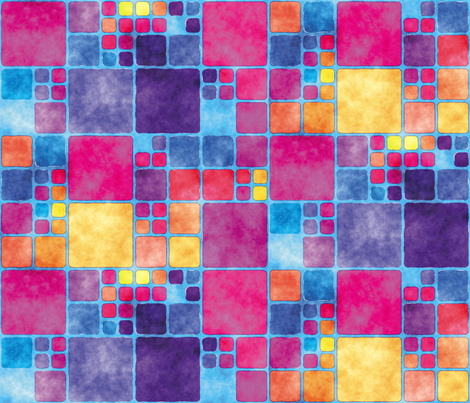 Painted Tiles 9 fabric by animotaxis on Spoonflower - custom fabric