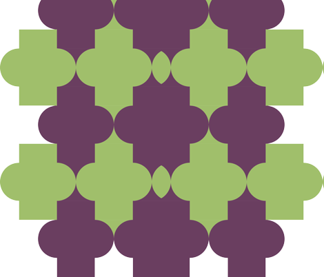 When Awkward Green Meets Weird Red fabric by artngellily on Spoonflower - custom fabric