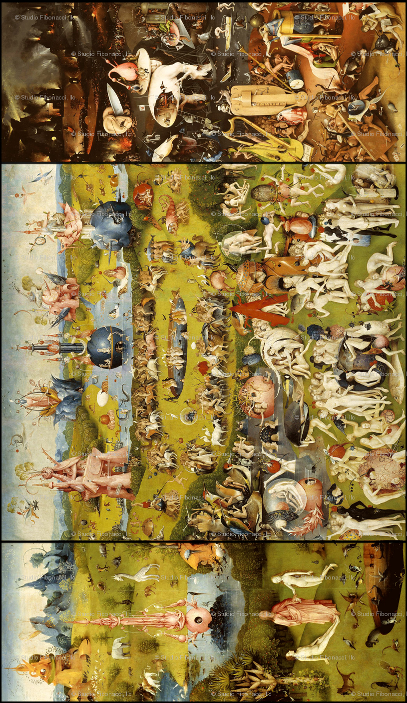 The Garden of Earthly Delights (Hieronymus Bosh, 1510) - vertical ...