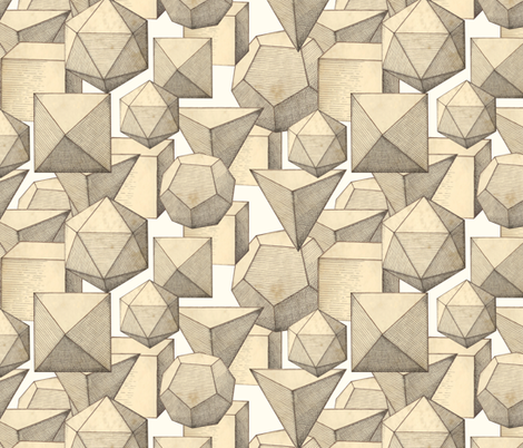 polyhedra fabric by ravynka on Spoonflower - custom fabric