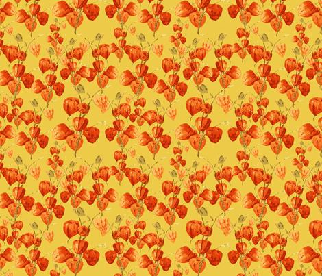 Chinese lanterns fabric by kociara on Spoonflower - custom fabric