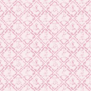 Monkeys are soooo Glamourous Toile Warm Pink