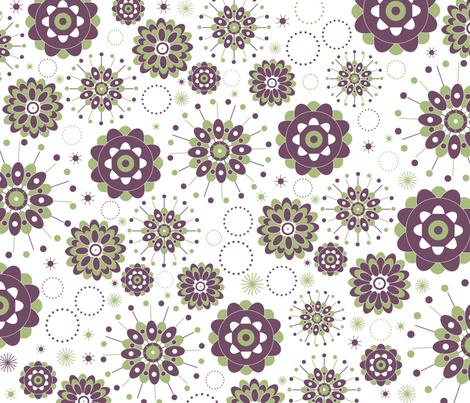Geometric-Flowers fabric by zeinab on Spoonflower - custom fabric