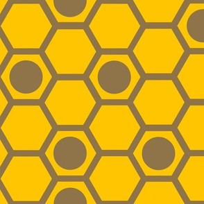 hexagons in yellow and light brown