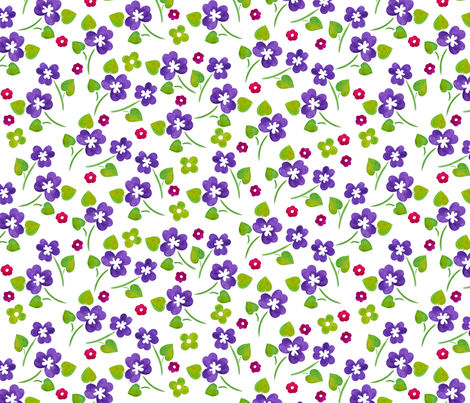 Pansy bouquet fabric by valley_designs on Spoonflower - custom fabric